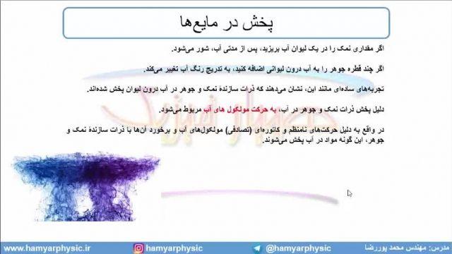 جلسه 50 فیزیک دهم - حالتهای ماده 4 - مدرس محمد پوررضا