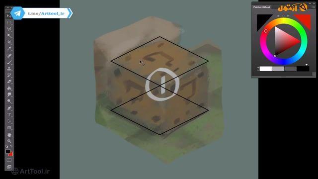 آموزش  مرحله به مرحله مبتدی طراحی جعبه سوال برای بازی - نقاشی دیجیتال   گرافیک ب