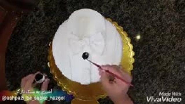 اموزش کیک به شکل پیراهن مردانه