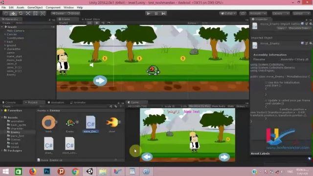 آموزش ویدیویی ساخت بازی در یونیتی
