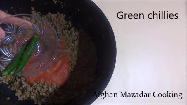 طرز تهیه متر (نخود فرنگی) پلو افغانستان - آموزش کامل طرز تهیه غذا های افغانستان