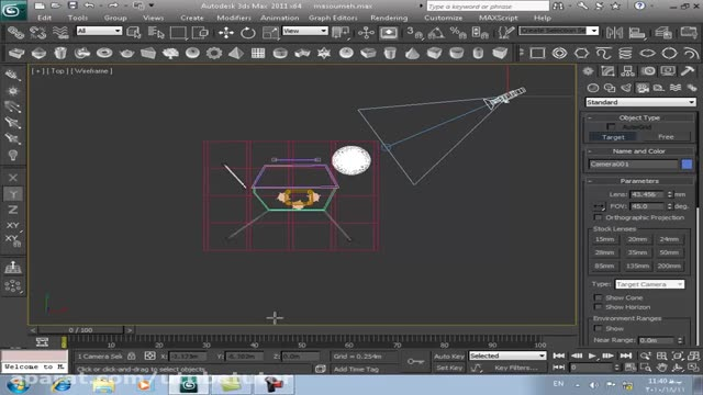 آموزش تری دی مکس (3D Max) - قسمت 28 - کار با دوربین تری دی (3D)