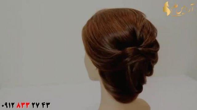 آموزش شینیون مو مناسب موهای متوسط