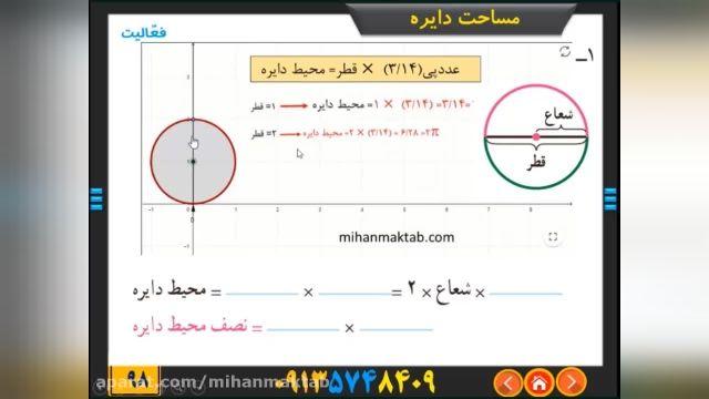 آموزش رایگان ریاضی پایه ششم - فصل 5-  اندازه گیری درس سوم