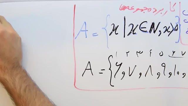 آموزش ریاضی پایه نهم- فصل اول- بخش چهارم -کاربرد و نمایش مجموعه ها
